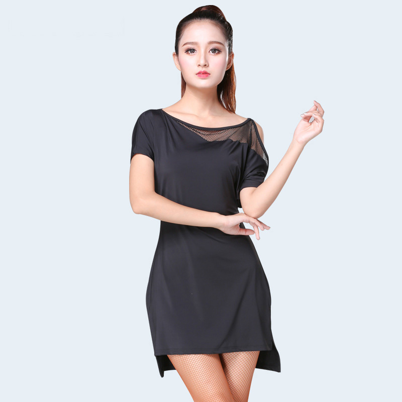 Latin Dance Dress Short Sleeve Irregular Skirt Lady Ballroom Tango Dresses Cha Salsa Clothes For Women Latin Practice Wear