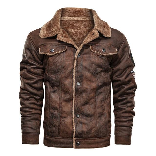 2020 新秋と冬ラペル大男性のジャケットカジュアルファッションオートバイ緩い革ジャケット