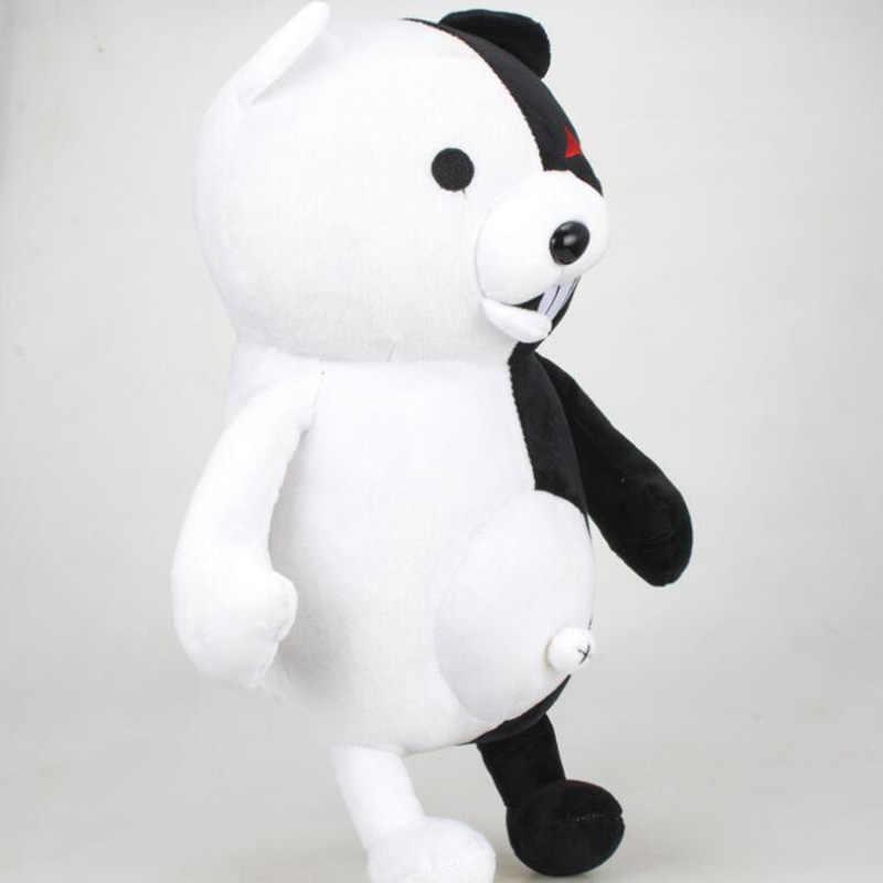 35 سنتيمتر دانغان رونبا سوبر دانغانرونبا 2 مونوكوما الأسود والأبيض الدب ألعاب من نسيج مخملي لينة الحيوان محشوة دمية للأطفال هدية الكريسماس