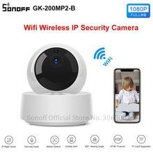 SONOFF GK 200MP2 B 1080P HD كاميرا واي فاي صغيرة الذكية كاميرا IP لاسلكية 360 الأشعة تحت الحمراء للرؤية الليلية مراقبة الطفل كاميرات المراقبة