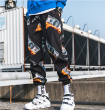 Summer 2019 stretchy pants men's cargo pants the latest trend is printed nine-cent pants hip hop casual cargo pants a must-have