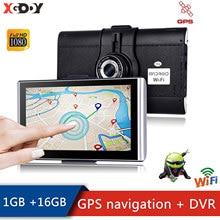 XGODY 7 Inch Android Car GPS Navigator Truck GPS Navigation   1GB +16GB Touchscreen Navigation Car WiFi with Car Dash Camera DVR