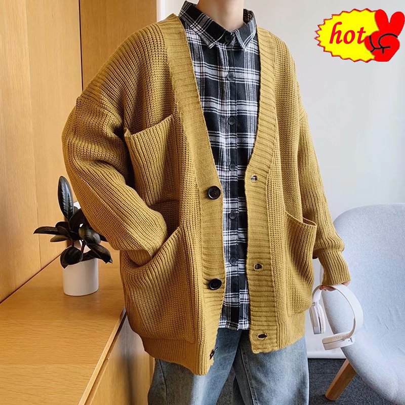 Mens Cardigan 2020 Sweater Coat Autumn Winter Warm Thick Turtleneck Knitting Jumper Sweaters Male Coats Oversize Men Clothing