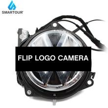 Car Flip Logo Reverse Camera for Volkswagen for VW Golf 5/6 MK6 Passat B6 B7 CC B8 Golf 7 Emblem Rear View Camera RGB CVBS CCD rgb rns315 rns 510 rcd 510 box cvbs to rgb and av to rgb converter adapter for vw passat cc tiguan oem flip rear view camera