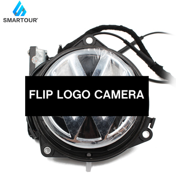 цены Car Flip Logo Reverse Camera for Volkswagen for VW Golf 5/6 MK6 Passat B6 B7 CC B8 Golf 7 Emblem Rear View Camera RGB CVBS CCD