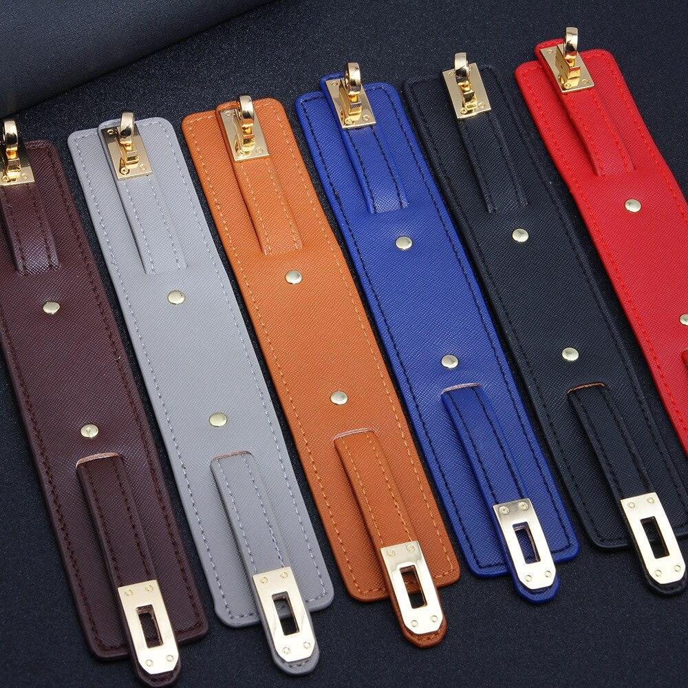 Kirykle-Bracelet en cuir, 6 couleurs, breloque multicouche pour femmes, Punk décontracté, accessoires de bijoux de fête, cadeau d'anniversaire de noël 5