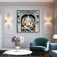 Индийский идол декор плакат Холст Живопись Печать картины ретро плакаты и принты стены искусства Mudular картины для гостиной
