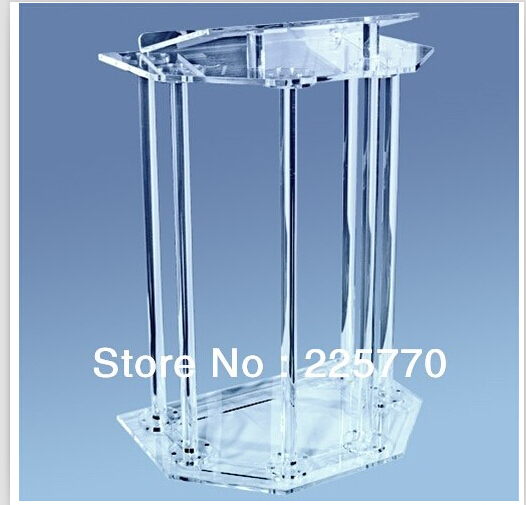 Clear Acrylic Platform High Quality Soundness Modern Design Cheap Acrylic Lectern Acrylic Podium Plexiglass