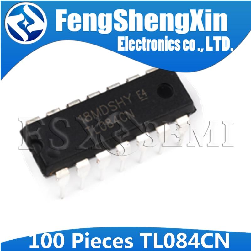 50PCS TL084 TL084CN  DIP-14 Quad JFET-Input Op Amp IC