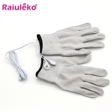 1Pair Magic Conductive Electrode Massage Gloves With Cable For Acupuncture Therapy Massager/Tens Pul