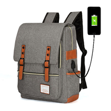 Fashion Men Laptop Backpacks PVC Material College Bags For T