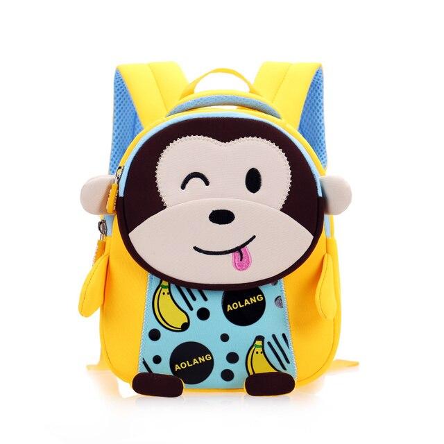 GREATOP 2021 New 3D Children School Bags for Girls Boy Children Backpacks Kindergarten Cartoon Animal Toddle Kids Backpack 2