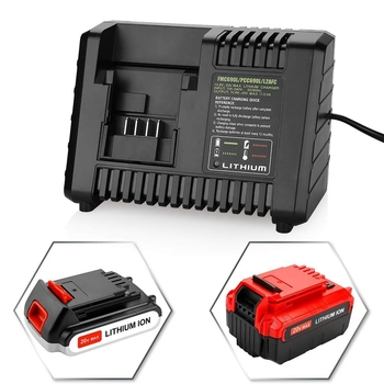 Fast Charger Replacement For Porter Cable 20V Max Lithium-Ion Battery And Black & Decker 20V Lithium-Ion Battery Porter-Cable Pc 20v 2500mah li ion rechargeable battery power tool replacement battery for black