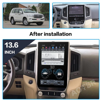AOTSR Tesla Android 9 Car Radio For TOYOTA LAND CRUISER 200 LC200 2016 2017 2018 GPS Navigation DSP PX6 Multimedia Player Stereo 9 inch android 9 0 car navigation gps for toyota land cruiser prado150 2009 2013 multimedia player wifi dsp radio 2 din player