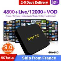 Frankrijk IPTV Arabisch Italië België 1 Jaar IPTV MX10 4 + 64G Franse Portugal IP TV Abonnement SUBTV Turkije nederland IP TV