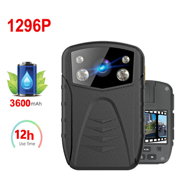 1296p 34MP 12hrs Recording time HD Car Camera Global GPS DVR Video Voice Recorder Police DV Security Body Worn Cam