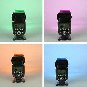 Image 5 - 20 צבעים/חבילה פלאש Speedlite צבע מסנני כרטיסי עבור Canon עבור ניקון מצלמה צילום סינון ג לי פלאש מבזק