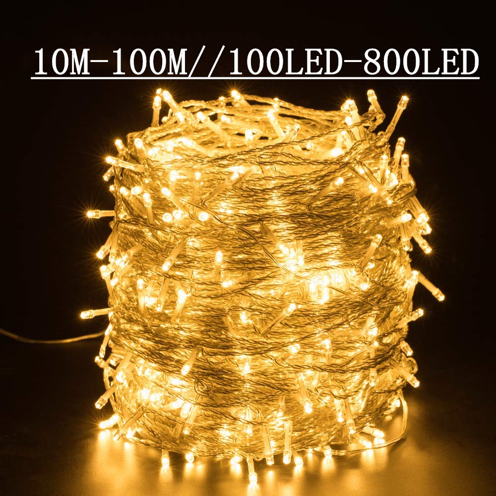 String Lights Holiday Wedding Christmas Decoration Outdoor Garden Waterproof Star Lantern Fairy Lights Garland Outdoor Garden