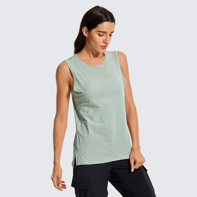 Pima Cotton Sleeveless Relaxed Fit Tank Top