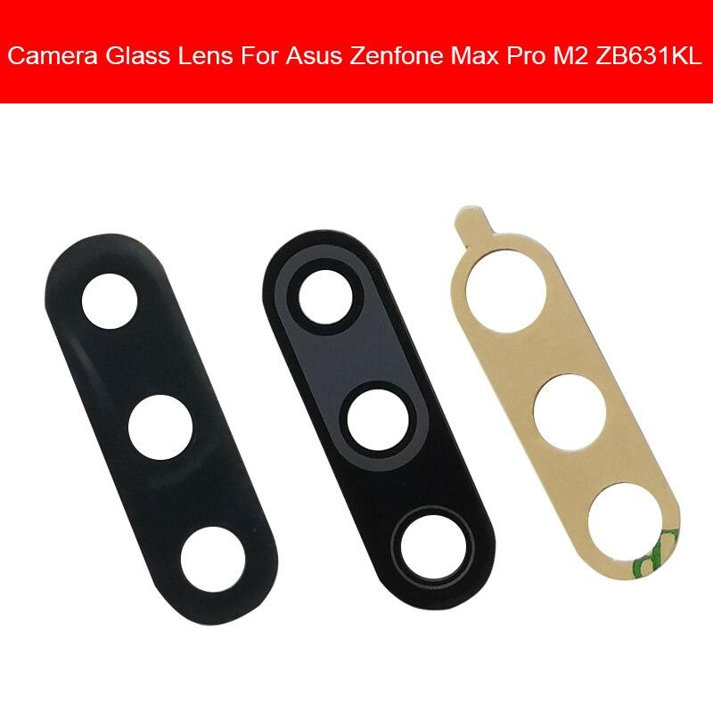 Back Camera Glass Lens Cover For Asus Zenfone Max Pro M2 ZB630KL ZB631KL Rear Camera Glass Lens With Adhesive Sticker Repair