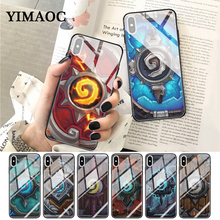YIMAOC Hearthstone classic Glass Phone Case for Apple iPhone XR X XS Max 6 6S 7 8 Plus 5 5S SE