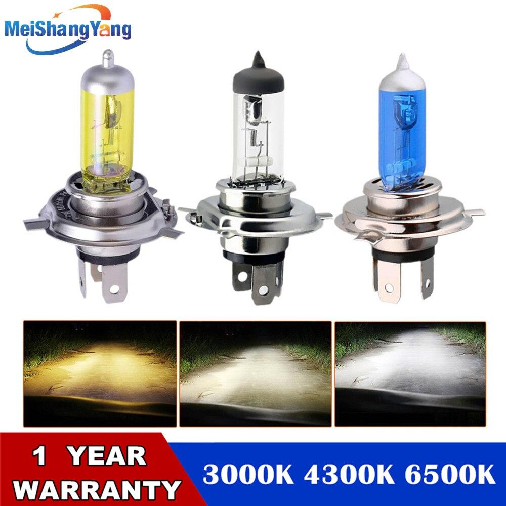 12V 55W Super White Yellow Halogen Bulb H4 H7 12V 100W 3000K 4300K 6000K Quartz Glass Car Headlight Lamp Motorcycle Light Lamp