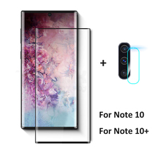 2 In 1 on For Samsung Galaxy Note 10 Plus Tempered Glass Screen Protector Protective for Galaxy Note 10 Pro Note10+ Camera Glass стоимость