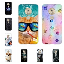 For Motorola Moto G7 Play Cover Soft TPU Silicone Case Scenery Patterned Shell Bumper