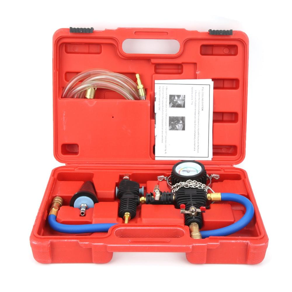 Oversea Cooling System Vacuum Purge & Coolant Refill Kit With Carrying Case For Car SUV Van Cooler Cooling System Kit Metal