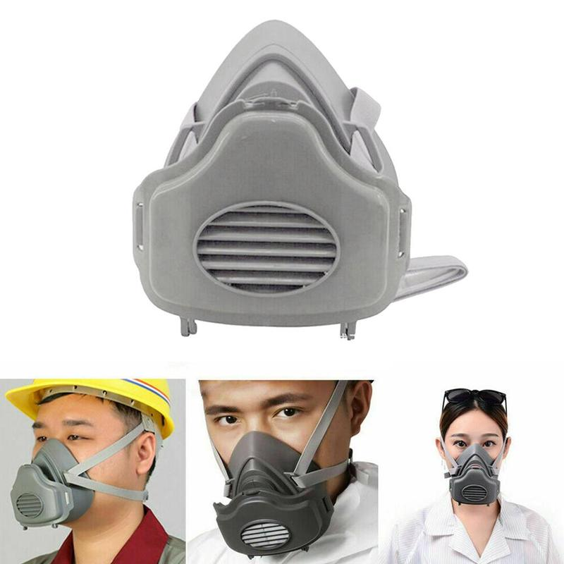 1 Set Half Face Respirator Gas Mask Safety Protective Suit Anti Dust Organic Vapors PM2.5 Fog Mouth-muffle For 3200