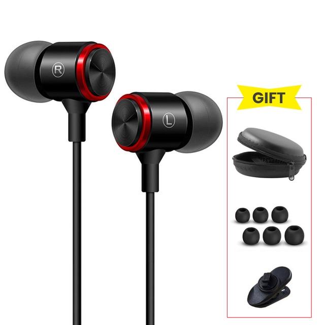 3.5mm In Ear Earphones Bass Stereo Headset Running Earbuds Wired Headphones Sport Earphone for Xiaomi Redmi Note 7 sluchawki