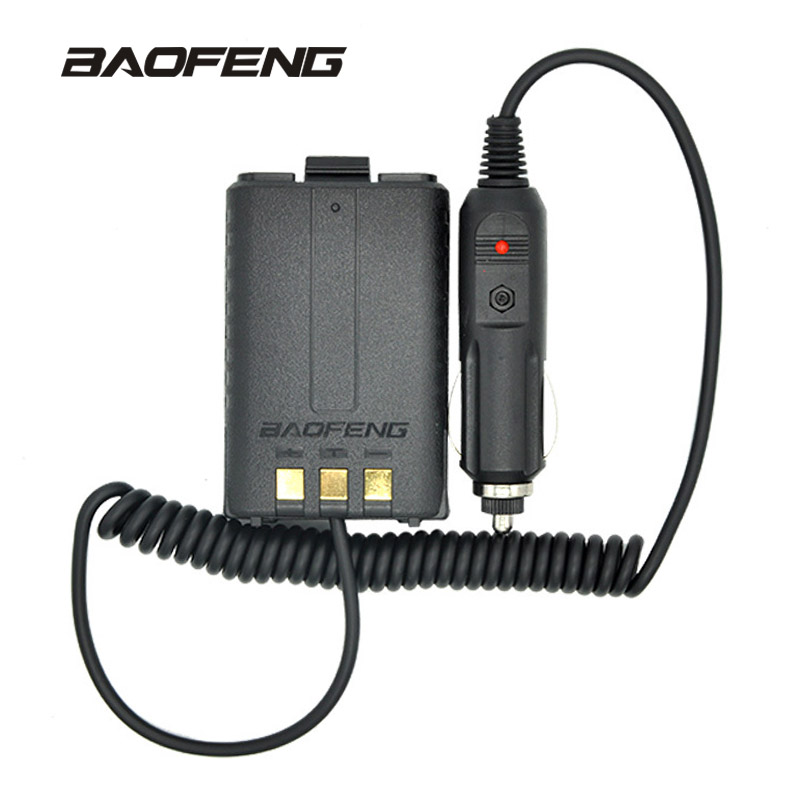 Baofeng Car Charger UV-5R Battery Eliminator Replace Car Lighter Slot For UV-5R UV-5RE UV-5RA Radio Walkie Talkie Accessories