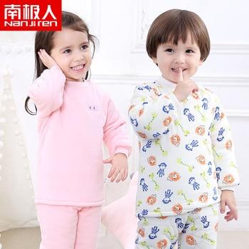 NANJIREN 0-2year Baby Clothes Set Boys Girls Winter Cotton Warm Clothes Printing Padded Newborn Sweater Comfortable Kids Pajamas