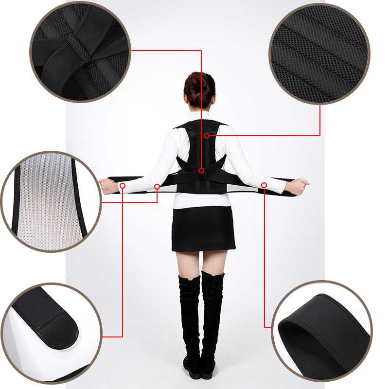Корректор осанки для мужчин и женщин для спины ключицы позвоночника спины плеча поясничная поддержка корсет коррекция осанки ортопедический пояс