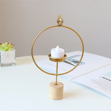 Home Decoration Accessories Geometric Modern Golden Candlestick Dining Table Candle Decor Romantic Candlelight Dinner Wedding crystal candle holders european upscale candlestick table romantic candle sticks wedding centerpieces for home decoration