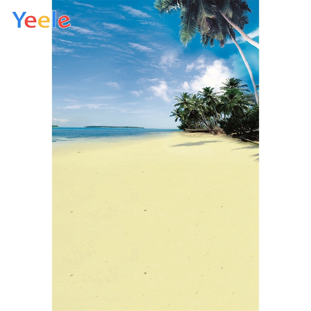 Yeele Summer Seaside Photographic Backdrops Sea Beach Scene Kid Photography Photo Backgrounds Customized Screen For Photo Studio