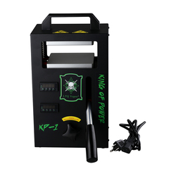4ton Hydraulische Rosin Persmachine KP-1 Warmte Pers 4.5x4.7inch dual verwarmde platen Draagbare Olie Wax Extraheren Tool
