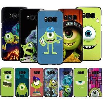 EWAU de dibujos animados monstruos Inc. Mike caja del teléfono de silicona para Samsung S6 S7 borde S8 S9 S10 Nota 8 9 10 plus S10e M10 M20 M30 M40