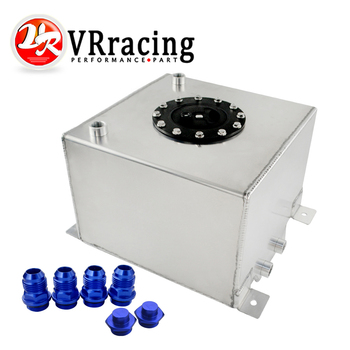VR RACING - 20L Aluminum Fuel Surge tank with cap/foam inside mirror polished  Fuel cell  without sensor VR-TK14