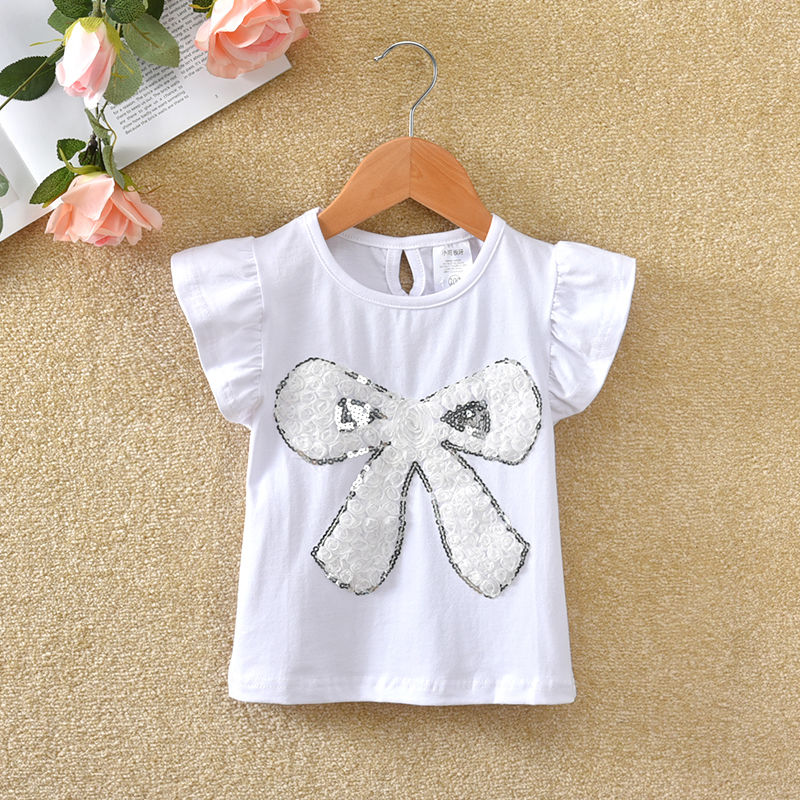VIDMID Summer Fashion  T-shirt Children Girls Short Sleeves  Tees Baby Kids Cotton Tops For Girls Clothes 1- 7Y  P1054 3