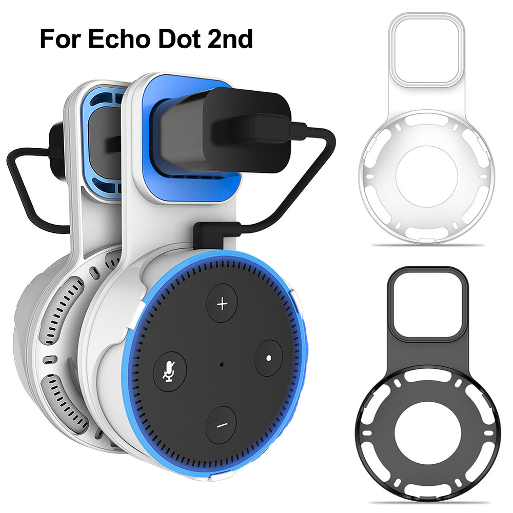 Outlet Wall Mount For Amazon Echo Dot 2nd Generation Charging Hanger Space Saving For Alexa Stand Voice Assistants Bracket ST01