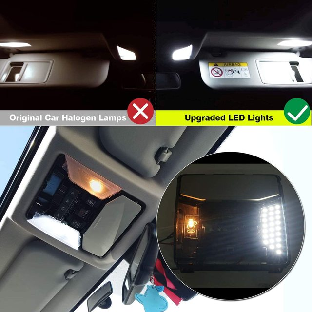 for Toyota Prius 30 XW30 ZVW30 V α 2010~2015 Night Interior Lamps Dome Roof lights LED 4x4 Trunk Reading Lamp White Canbus Bulbs 3