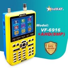 VF 6916 buscador de satélite para DVB S2 CCTV AHD, TVI, CVI, HD, pantalla de cámara, buscador de satélite H.264