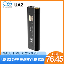 Shanling UA2 Portable USB DAC Cable AMP ES9038Q2M 2 5mm Balanced 3 5mm output PCM768 DSD512 Compatible iOS Android cheap 32-50 Ohm LINE OUT (AUDIO OUT) Balanced Out CN(Origin) Aluminum 2 (2 0) 125mW 32ohm 54 x 18 x 9mm ESS ES9038Q2M Mini Amplifier
