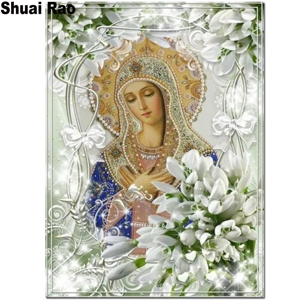 Алмазная мозаика 5d, Алмазная мозаика полностью квадратной формы для рукоделия, алмазная вышивка крестиком, религиозная икона, подарок