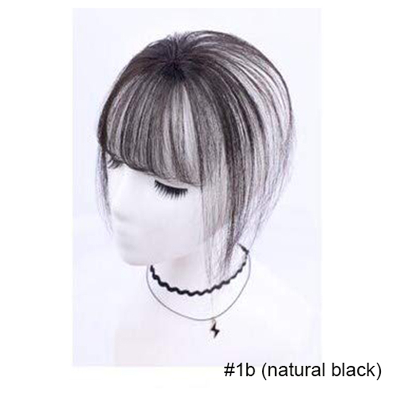 Ugeat 3D Clip ON Hair Bangs 100% Real Human Hair Extensions Hair Bangs With Clips Hair Pieces Human Hair Extensions