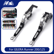 For GILERA Runner 200 2003 2008 Runner 125 1997 2002 Motorcycle Accessories CNC Adjustable Folding Extendable Brake Clutch Lever