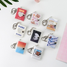 20 Pockets Mini Photos Album with Keychain Instant Picture Storage Book Family Wedding Memory Gift