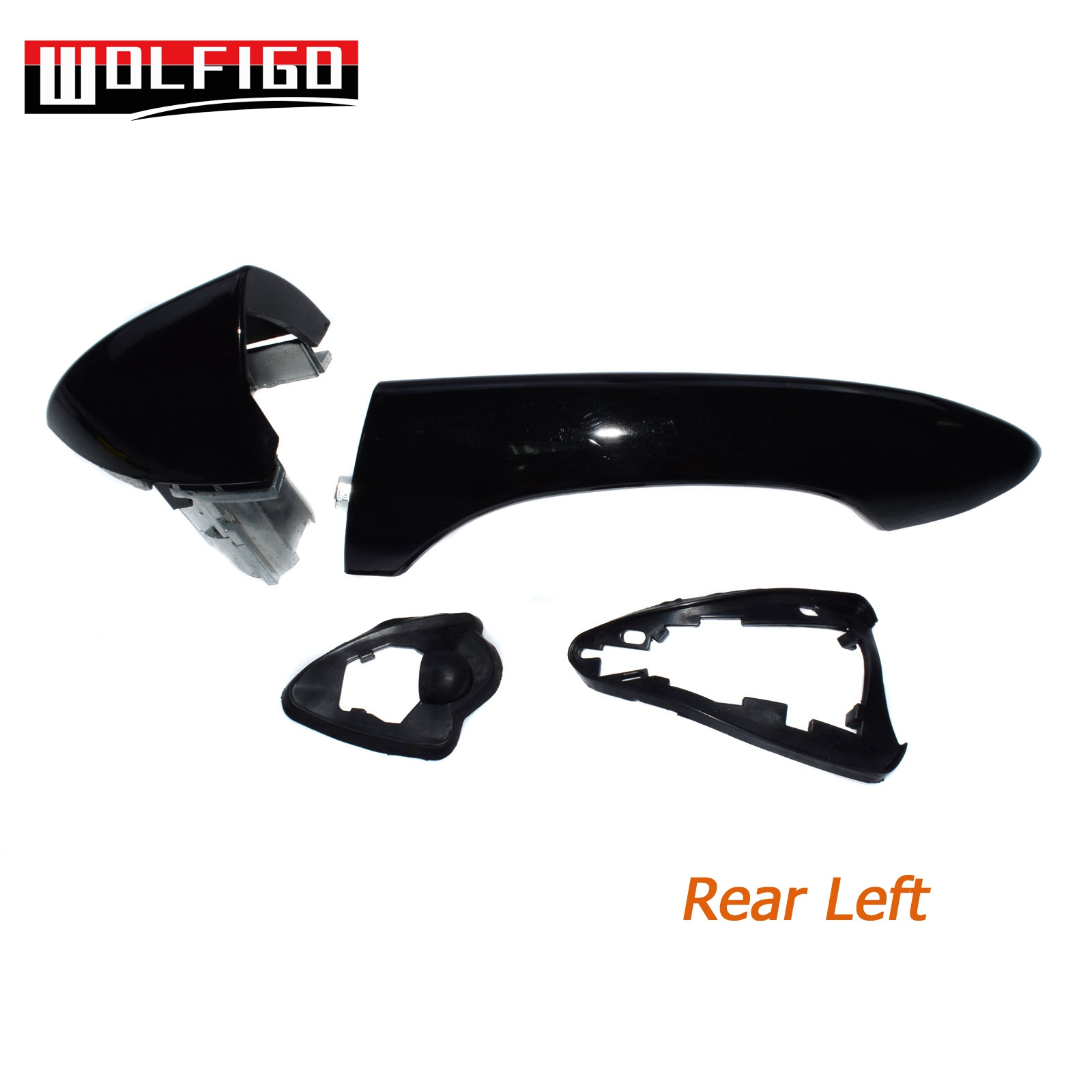 For BMW X5 E53 Outside Outer Door Handle Front Left Side 51218257737 Black New