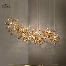 Led-Pendant-Light Hanging-Lamp Deco Stainless-Steel Ceiling Chrome/gold-Lighting Home-Art